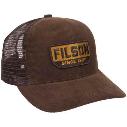 Filson Corduroy Logger Mesh Baseball Cap (For Men) in Brown - Closeouts