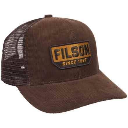 Filson Corduroy Logger Mesh Baseball Cap (For Men) in Brown - Closeouts