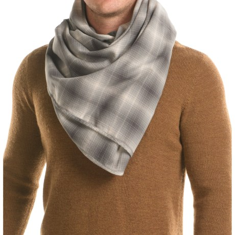 """Filson Cotton Scarf - 50x50"""" in Light Grey Ombre"""