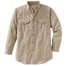 Filson Cotton-Wool Button-Down Shirt - Long Sleeve (For Men) in Oatmeal Heather - Closeouts