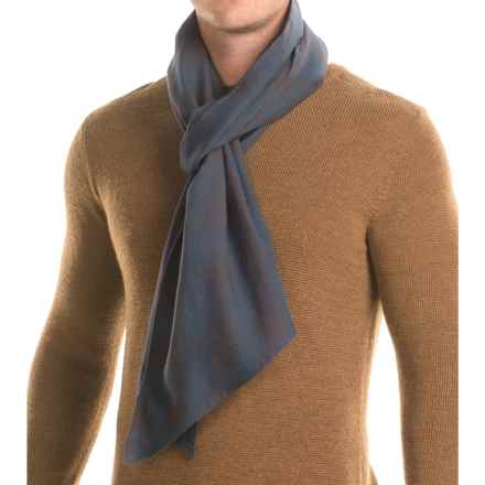 "Filson Cotton-Wool Scarf - 89x13"" in Navy Ombre - Closeouts"