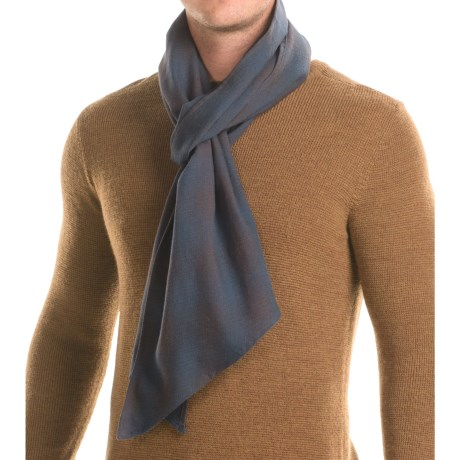 "Filson Cotton-Wool Scarf - 89x13"" in Navy Ombre"