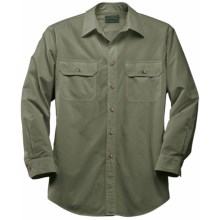 Filson Cotton Work Shirt - Long Sleeve (For Men) in Olive - Closeouts