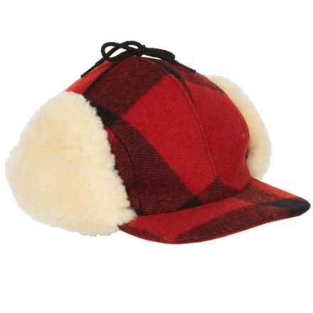 Filson Double Mackinaw Wool Cap in Red/Black - Closeouts