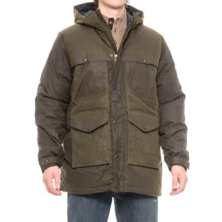 Filson Down Cruiser Parka - 550 Fill Power, Oiled Cotton Canvas (For Men) in Burnt Olive - Closeouts