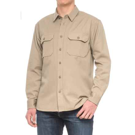 Filson Drill Chino Shirt - Long Sleeve (For Men) in Khaki - Closeouts
