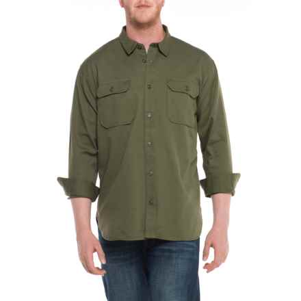 Filson Drill Chino Shirt - Long Sleeve (For Men) in Olive - Closeouts