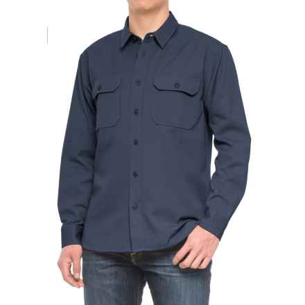 Filson Drill Chino Shirt - Long Sleeve (For Men) in Storm Navy - Closeouts