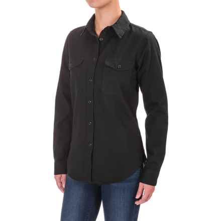 Filson Drill Chino Shirt - Long Sleeve (For Women) in Black - Closeouts