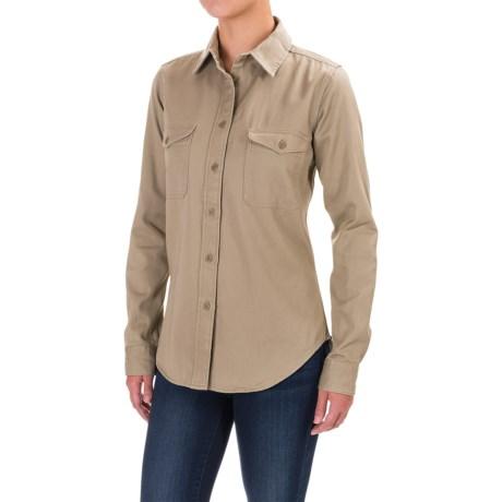 Filson Drill Chino Shirt - Long Sleeve (For Women) in Khaki