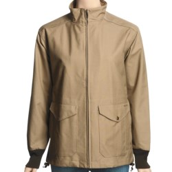 Filson Dry Finish Shelter Cloth Windbreaker Jacket - Waxed Cotton (For Women) in Camel