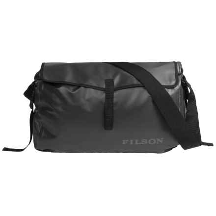 Filson Dry Messenger Bag - Waterproof in Black - Closeouts