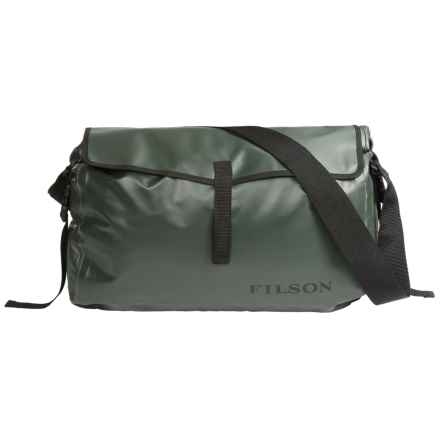 Filson Dry Messenger Bag - Waterproof in Green - Closeouts