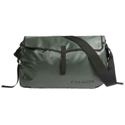 Filson Dry Messenger Bag - Waterproof in Green - Closeouts