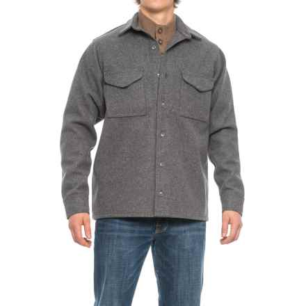 Filson Extra-Long Jac-Shirt - Virgin Wool (For Men) in Dark Gray - Closeouts