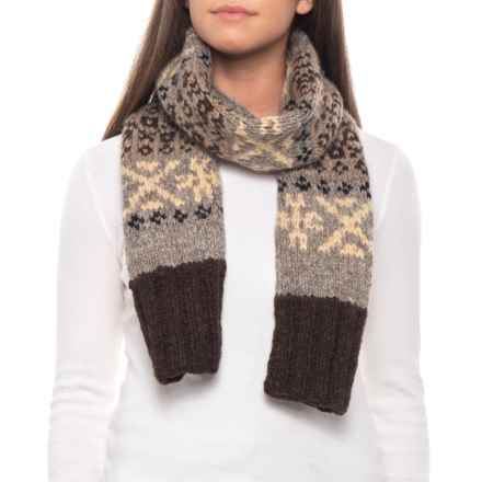 Filson Fair Isle Handmade Scarf in Brown/Multi - Closeouts