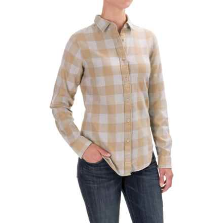 Filson Farrow Shirt - Long Sleeve (For Women) in Khaki/Grey Buffalo Check - Closeouts