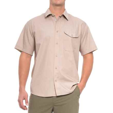 Filson Feather Cloth Shirt - Short Sleeve (For Men) in Desert Tan - Closeouts