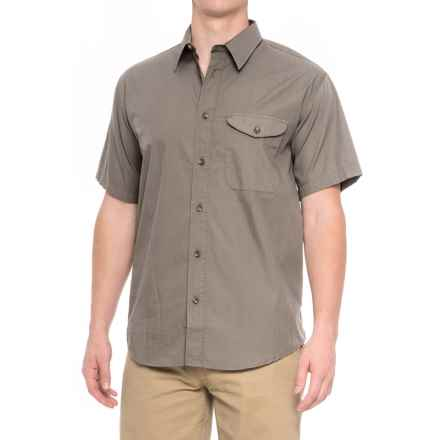 Filson Feather Cloth Shirt - Short Sleeve (For Men) in Light Olive - Closeouts