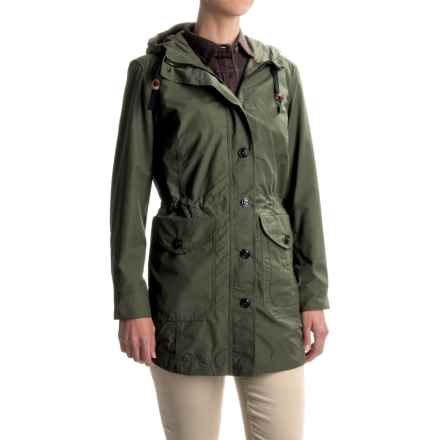 Filson Field Parka - Waxed Cotton (For Women) in Olive - Closeouts