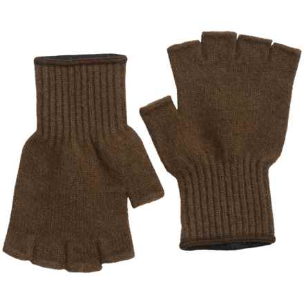 Filson Fingerless Gloves - Bison Down Knit (For Men) in Brown - Closeouts