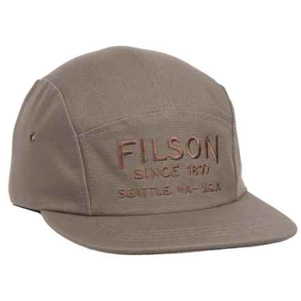 Filson Five-Panel Baseball Cap in Olive/Gray - Closeouts