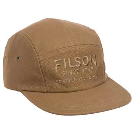 Filson Five-Panel Baseball Cap in Rugged Tan - Closeouts