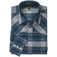 Filson Flannel Western Shirt - Snap Front, Long Sleeve (For Men) in Blue Multi - Closeouts