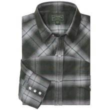Filson Flannel Western Shirt - Snap Front, Long Sleeve (For Men) in Green Multi - Closeouts