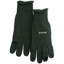 Filson Full-Fingered Gloves - Merino Wool (For Men) in Forest Green - Closeouts