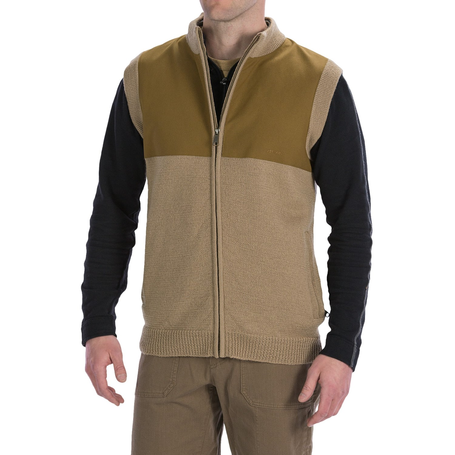 Wool Full Zip Sweater Vest - Cardigan With Buttons