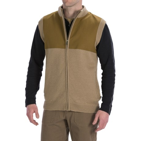 Filson Guide Sweater Vest - Wool, Full Zip (For Men) in Camel