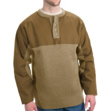 Filson Guide Waterfowl Oil-Finished Sweater - Merino Wool (For Tall Men) in Camel/Tark Tan - Closeouts