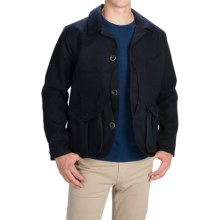 Filson Guide Work Wool Jacket (For Men) in Navy Wool/Olive - Closeouts