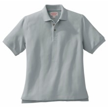 Filson Heavyweight Pique Polo Shirt - Short Sleeve (For Men) in Grey - Closeouts