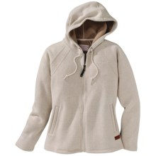 Filson Hooded Sweater Jacket - Wool Blend, Full Zip (For Women) in Cream - Closeouts