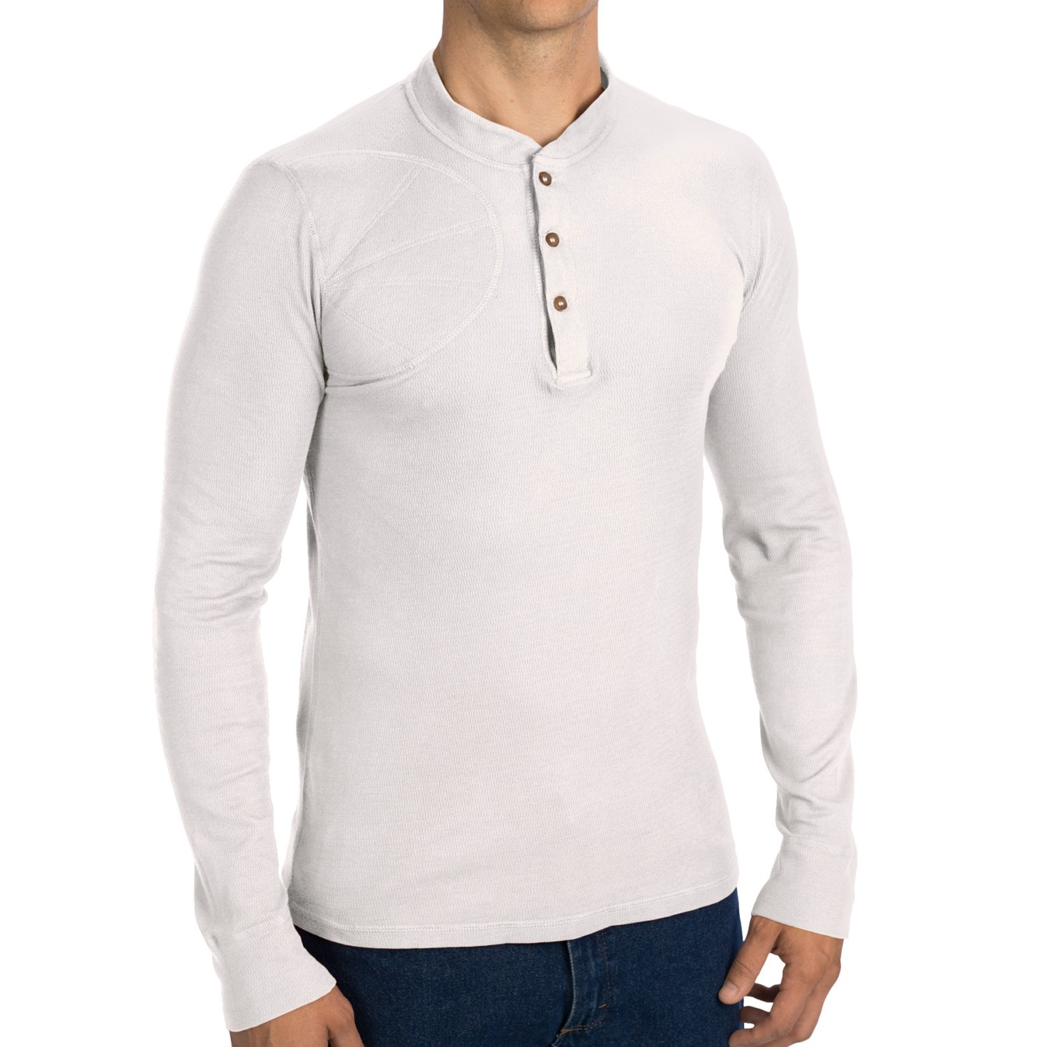 A raglan thermal shirt with contrasting sleeves can be worn under another shirt but also looks great when worn alone because of the classic sleeve shaping. Choose a lightweight cotton/poly version and wear it with slacks or cargos for any occasion that calls for something nicer than a pair of jeans.