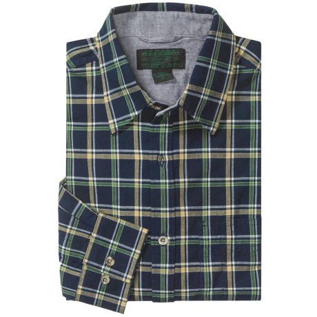 Filson Kenmore Plaid Shirt - Long Sleeve (For Tall Men) in Navy Multi