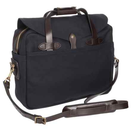 Filson Large Briefcase/Computer Bag in Navy - Closeouts