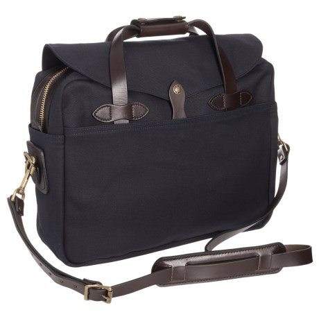 Filson Large Briefcase/Computer Bag in Navy