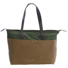 Filson Large Zip Tote Bag in Green/Tan - Closeouts