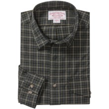 Filson Larrabee Plaid Shirt - Long Sleeve (For Tall Men) in Charcoal/Green - Closeouts