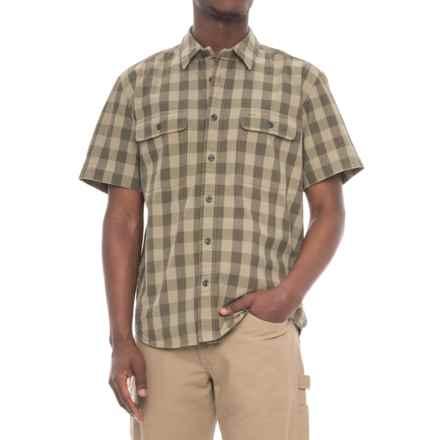 Filson Lightweight Kitsap Work Shirt - Short Sleeve (For Men) in Olive/Khaki Check - Closeouts