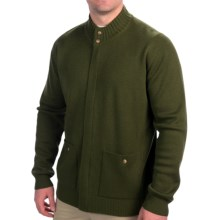 Filson Lightweight Merino Wool Cardigan Sweater - Full Zip (For Men) in Moss - Closeouts