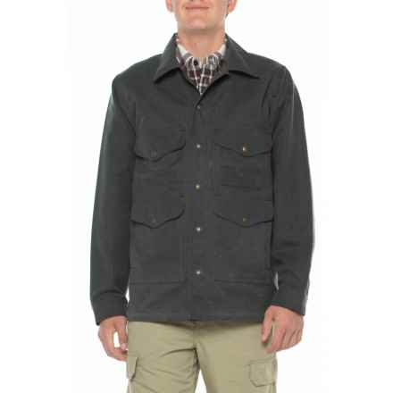 Filson Lined Seattle Cruiser Jacket - Waxed Cotton (For Men) in Charcoal - Closeouts