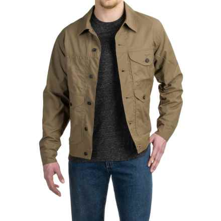 Filson Lined Short Cruiser Jacket - Waxed Cotton (For Men) in Tan/Tan Lining - Closeouts