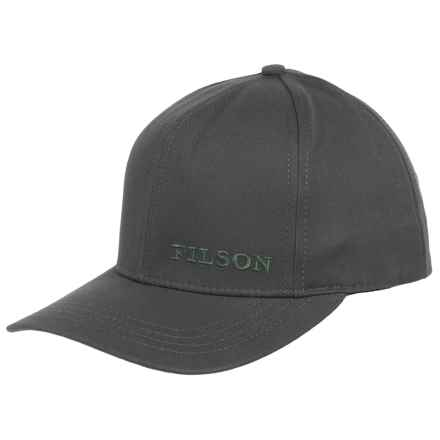 Filson Logger Baseball Cap (For Men and Women) in Dark Gray - Closeouts