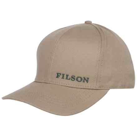 Filson Logger Baseball Cap (For Men and Women) in Khaki - Closeouts