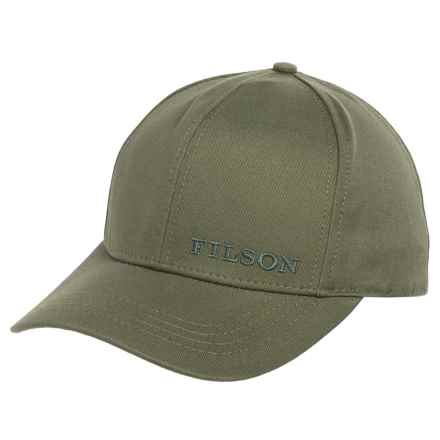 Filson Logger Baseball Cap (For Men and Women) in Olive - Closeouts