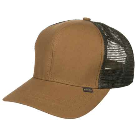 Filson Logger Mesh Baseball Cap (For Men) in Light Brown/Green - Closeouts